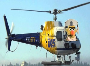 Helicopter with Bert