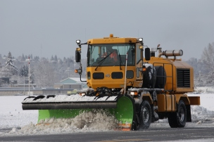Snowplow at King County International Airport-Boeing Field