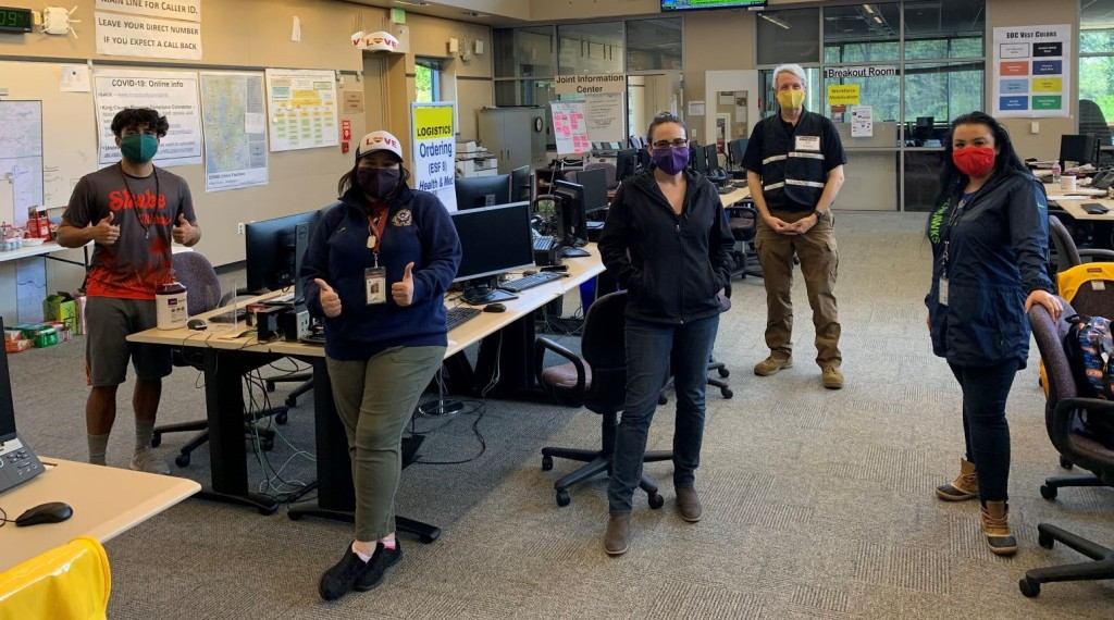 King County employees at the Emergency Operations Center in Renton